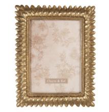 Clayre & Eef 2F0608 Képkeret 20x24cm/13x18cm,antikolt arany levél mintázattal, műanyag