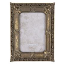 CLEEF.2F0687 Képkeret antikolt arany 17x22cm/10x15cm,műanyag
