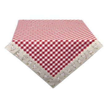 Clayre & Eef LCH05R Asztalterítő 150x250cm, kakasos, Red, 100% pamut
