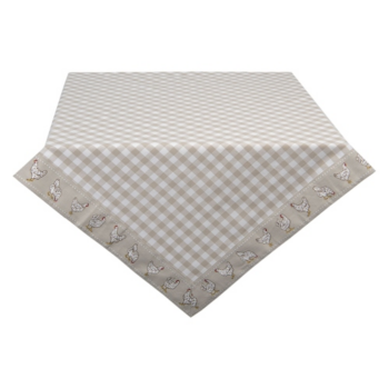Clayre & Eef LCH03N Asztalterítő 130x180cm, kakasos, Beige, 100% pamut