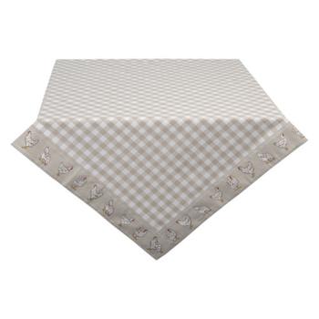 Clayre & Eef LCH05N Asztalterítő 150x250cm, kakasos, Beige, 100% pamut