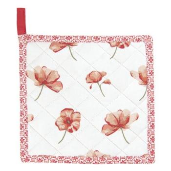 Clayre & Eef POF45 Edényalátét 20x20cm pamut, Poppy Flowers
