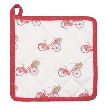 Clayre & Eef RBC45 Edényalátét 20x20cm pamut, Red Bicycle