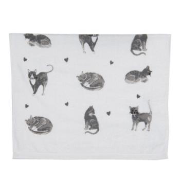 Konyhai kéztörlő pamut, 40x66cm, Cats and Kittens