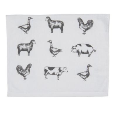Konyhai kéztörlő pamut, 40x66cm, Country Life Animals