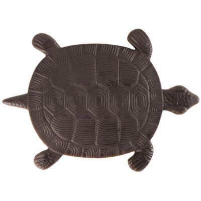 Lépőkő, öntöttvas, teknős
