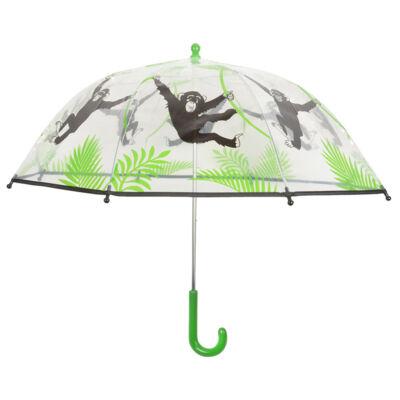 Gyerek esernyő, áttetsző majmos