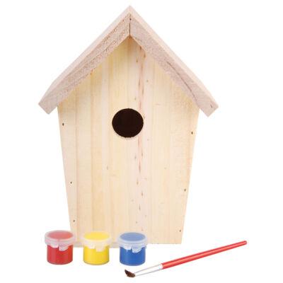 Natúr madárház dekorációs festékkel