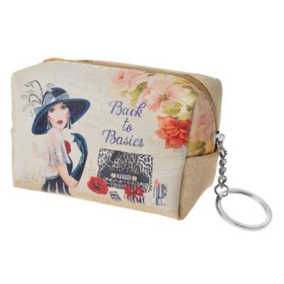 Clayre & Eef SBS0022-22 Kulcstartós pénztárca kalapos hölggyel