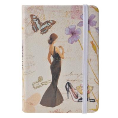 Clayre & Eef SBS0021-21 Notesz fekete ruhás hölggyel 14x10cm