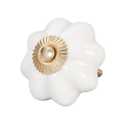 Ajtófogantyú Kerámia Fehér Virág