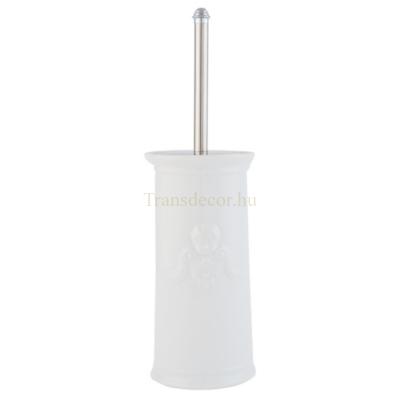 Clayre & Eef 63033 Porcelán toilett kefe tartóval,angyalos,11x24cm