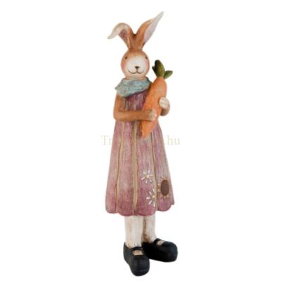 Clayre & Eef 63174 Dekor nyuszi lány répával 8x29cm