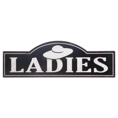 "Clayre & Eef 6Y1814 Fém tábla 48x1x16cm,""LADIES"""
