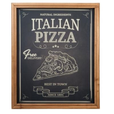 "Clayre & Eef 6H1297 Falikép 50x60cm,fa keretes,""Italian Pizza"""