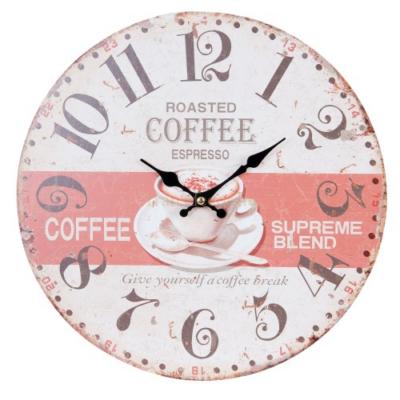 Clayre & Eef 6KL0419 Fa fali óra 34cm,Coffe espresso