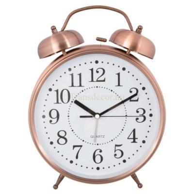 Clayre & Eef 6AC0022 Ébresztő óra fém 23x8x30cm, bronz színű