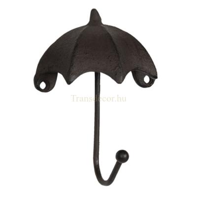 Clayre & Eef 6Y3058 Öntöttvas falifogas 10x5x13cm, esernyő