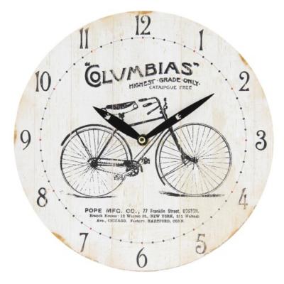 Clayre & Eef 6KL0534 Fa falióra 29x4cm,biciklis