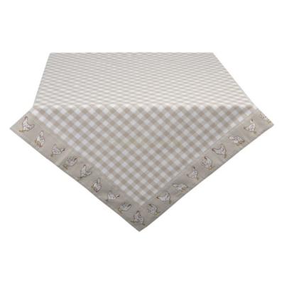 Clayre & Eef LCH01N Asztalterítő 100x100cm, kakasos, Beige, 100% pamut