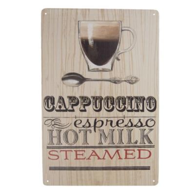 CLEEF.6Y3530 Fém falikép kávés 20x30cm