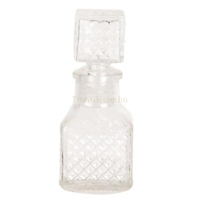 CLEEF.6GL2571 Parfümös üveg szögletes 4x10cm