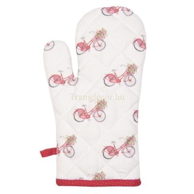 CLEEF.RBC44 Edényfogó kesztyű 18x30cm, pamut, Red Bicycle