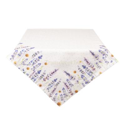 Clayre & Eef LF05 Asztalterítő 150x250cm 100% pamut, Lavender Field