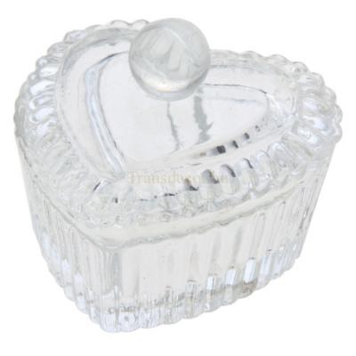 CLEEF.MLJB0079 Üveg gyűrűtartó szív formájú, 4cm