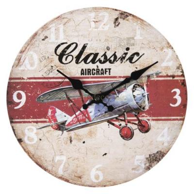 "CLEEF.6KL0598 Fa falióra 30x3cm,repülős""Classic Aircraft"""