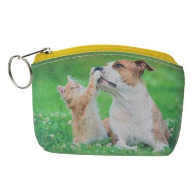 CLEEF.MLLLPU0026 Pénztárca cica kutyával 10x7cm,műanyag