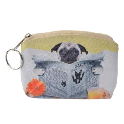 CLEEF.MLLLPU0027 Pénztárca kutya újsággal 10x7cm,műanyag