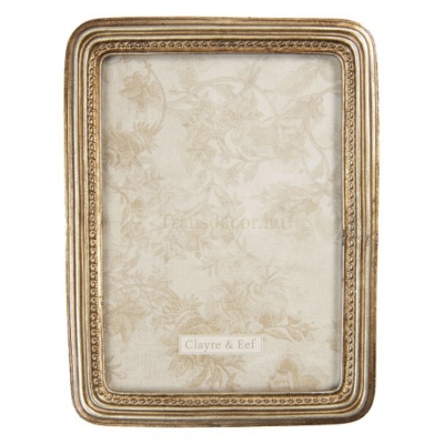CLEEF.2F0767 Képkeret műanyag 15x20/13x18cm, arany színű keretttel