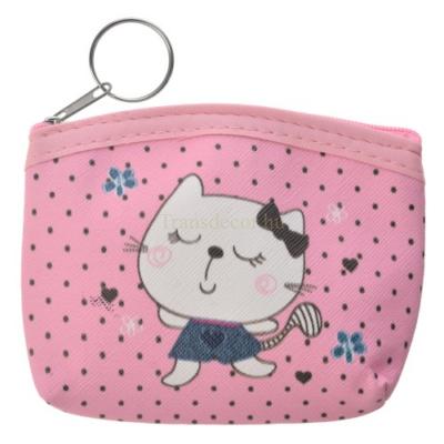 CLEEF.MLLLPU0029 Cicás pénztárca rózsaszín,műanyag, 11x9cm