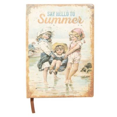 "Clayre & Eef 6PA0505 Jegyzetfüzet 21x15cm, ""Say hello to summer"""