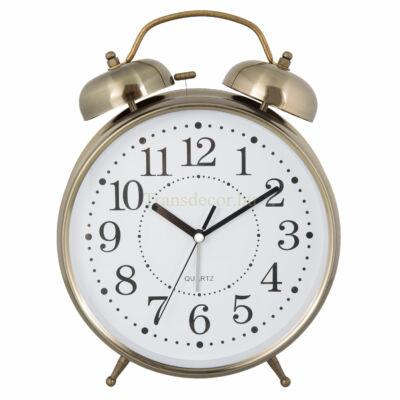 Clayre & Eef 6AC0025 Ébresztő óra fém 23x8x30cm, arany színű